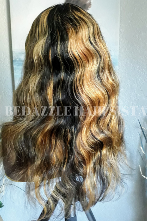 Wig - Blonde Highlighted Body Wave