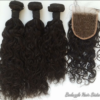 100% Human Hair Brazilian Water Wave  Bundles with Lace Frontal