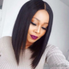 Virgin Yaki Straight Bob Wigs With Baby Hair Peruvian