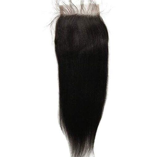 Closure - Yaki Straight Hair
