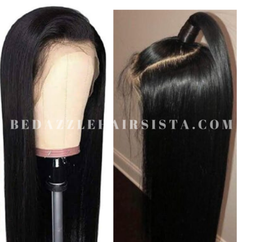 Wig - Black Long Straight Human Hair