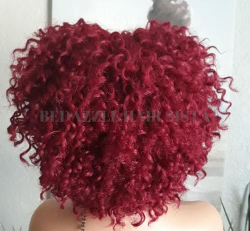Wig - KM Red Kinky Curl BackSide