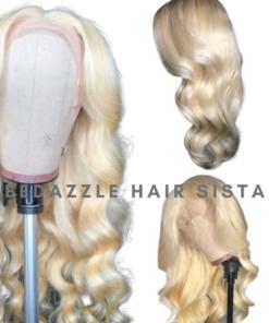 Wig - Platinum Blonde Body Wave Human Hair