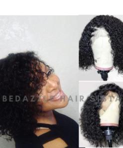 Wig - Short Kinky Curl Human Hair