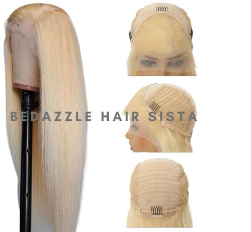 Wig - Straight Blonde Human Hair