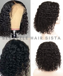 Wig - Short Wavy Bob Human Hair