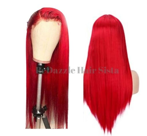 Wig - Red Straight Hair