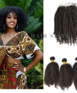 Bundles & Closure -Afro Kinky Curly