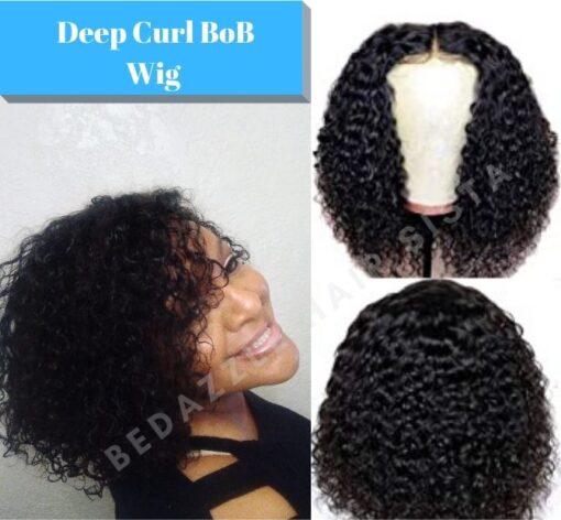 Wig - Short Deep Curl Human Hair