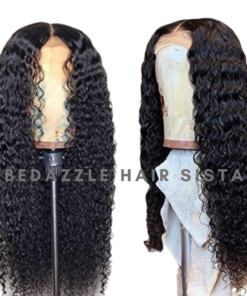Wig - Curly Human Hair Wig