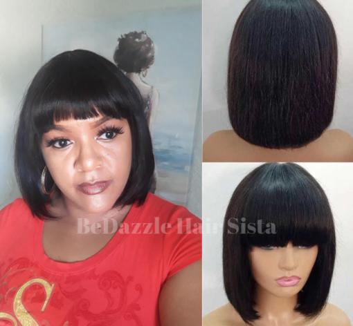 Wig - No Lace Bob with Bangs
