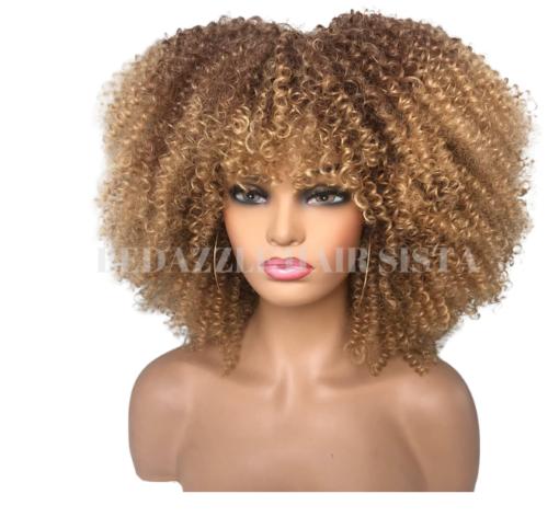 Wig - Afro Kinky Curl Side