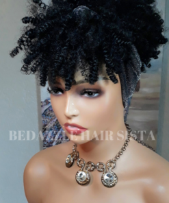 Wig - Kinky Curl Headband